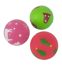 Rosewood Christmas Festive Rubber Ball Mix Dog Toy