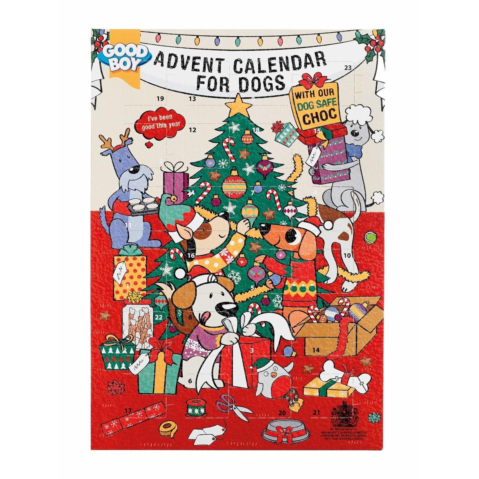 Good Boy Christmas Dog Chocolate Advent Calendar, 72g