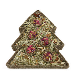 Rosewood Christmas Festive Floral Tree Challenge Small Animal  Edible Treat Toy