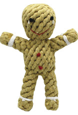 Happy Pet Christmas Rope Gingerbread Man Dog Toy, 19cm 7.5inch