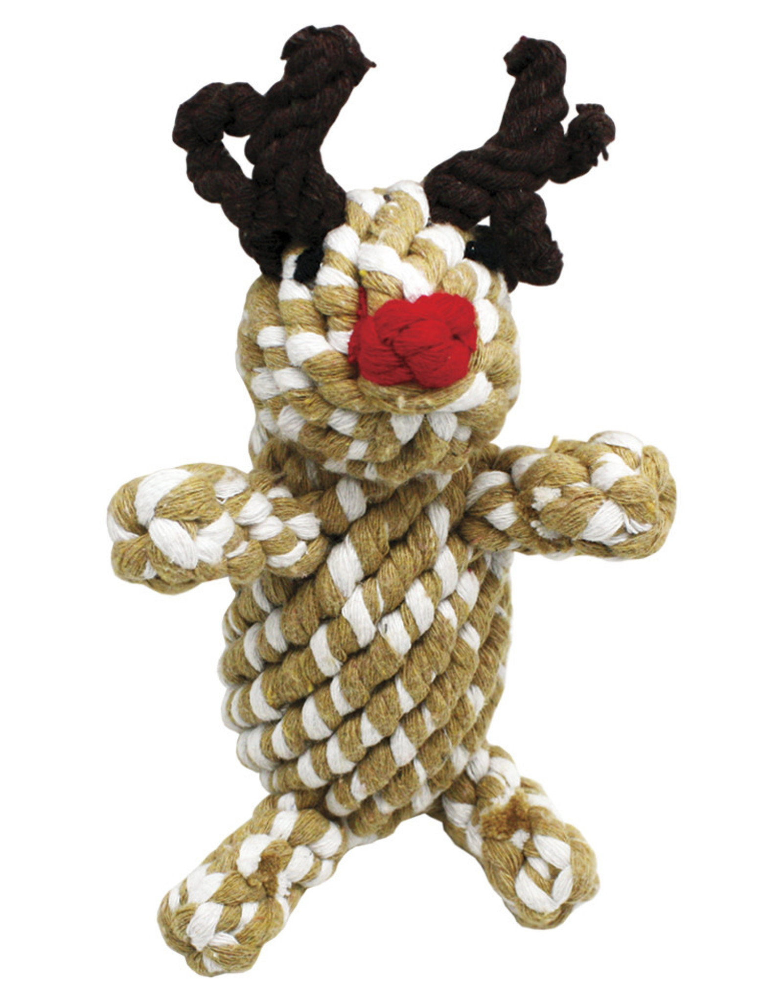 Happy Pet Christmas Rope Reindeer Dog Toy, 16cm 6.4inch