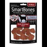SmartBones Rawhide Alternative Beef Bones Dog Treats, Mini, 8 pack