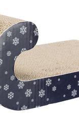 Trixie Christmas Sleigh Scratching Cardboard, Dark Blue,   39cm × 14cm × 20cm