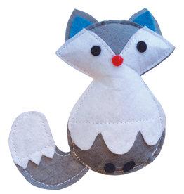 Happy Pet Christmas Frozen Fox Cat Toy, 10cm
