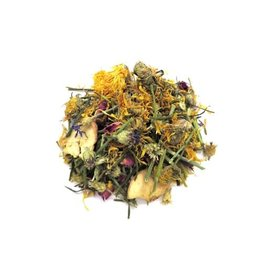 Borders Complete Small Animal Mix Flower Power - rose flower, marigold, bluecorn flowers, apple chips, dill stalks 70g