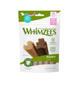 Whimzees Puppy Natural Daily Dental Dog Chew Treat, X Small-Small, 14 pack