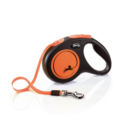 Flexi Extending Dog Lead, Neon Reflect, Medium, Tape 5m