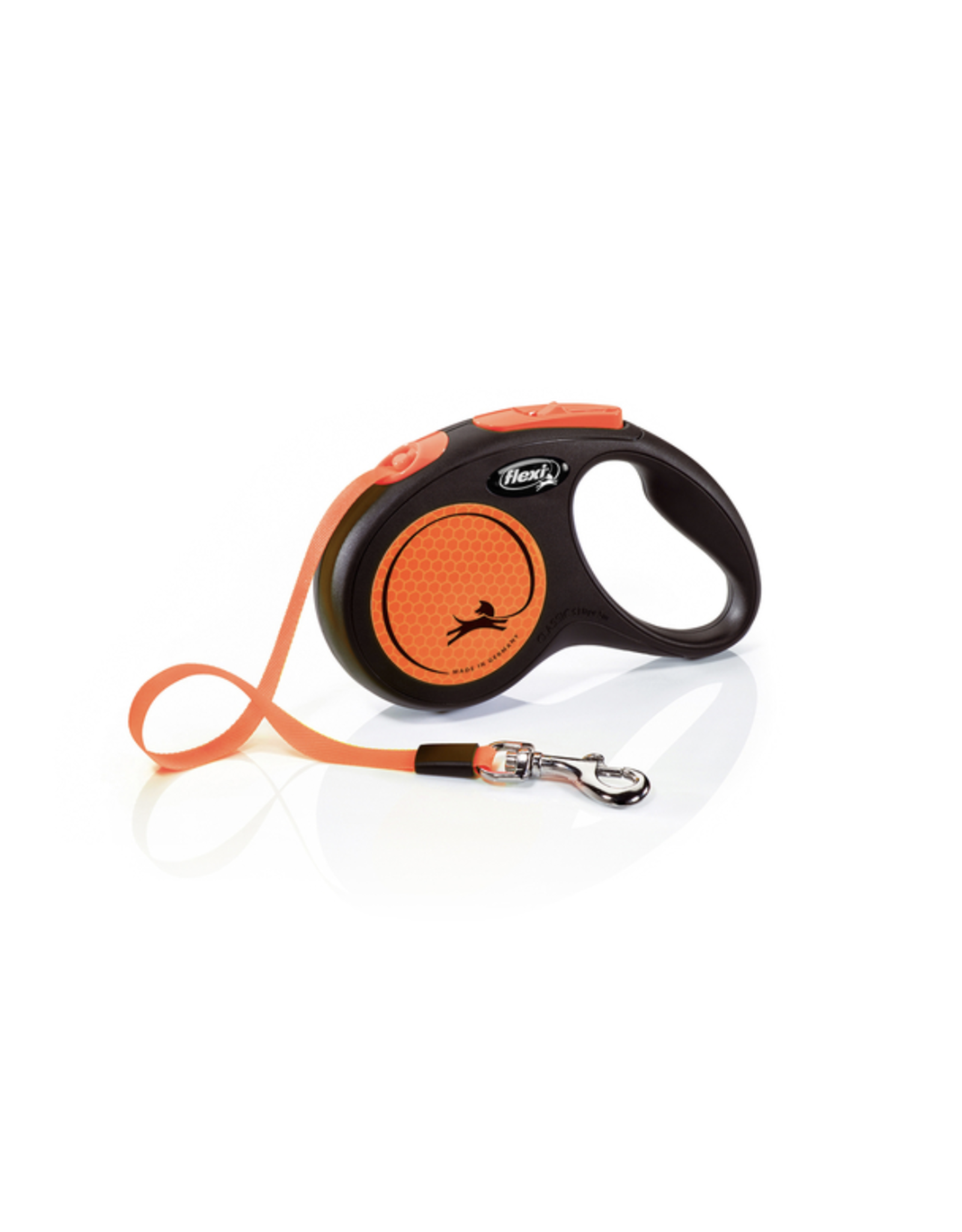 Flexi Extending Dog Lead, Neon Reflect, Small, Tape 5m