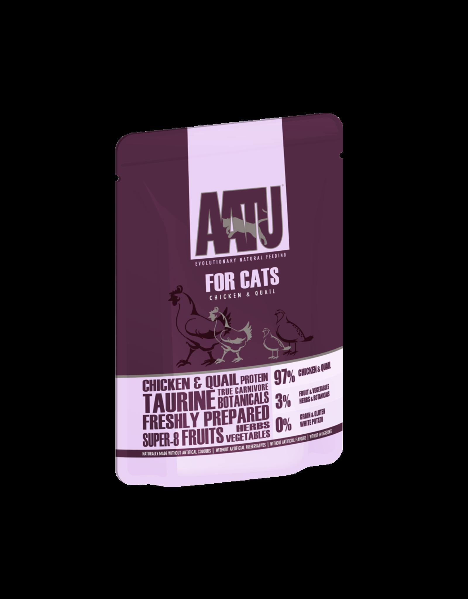 AATU Chicken & Quail Adult Cat Wet Food Pouch, 85g