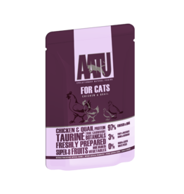 AATU Chicken & Quail Adult Cat Wet Food Pouch, 85g