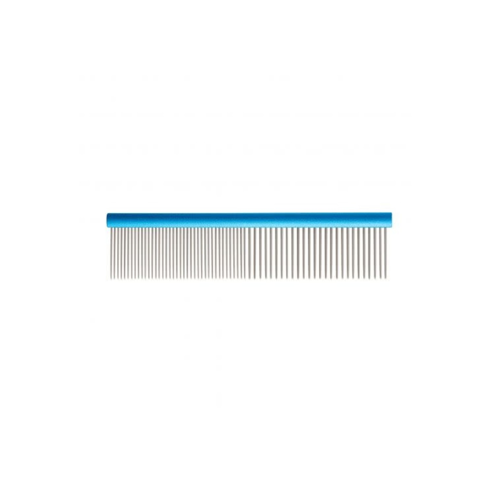 Ancol Ergo Aluminium Comb with 2 teeth widths, 19cm