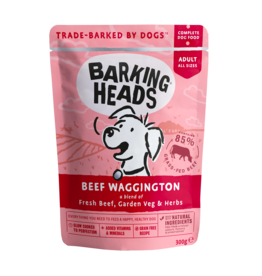 Barking Heads Beef Waggington Adult Wet Dog Food, 300g