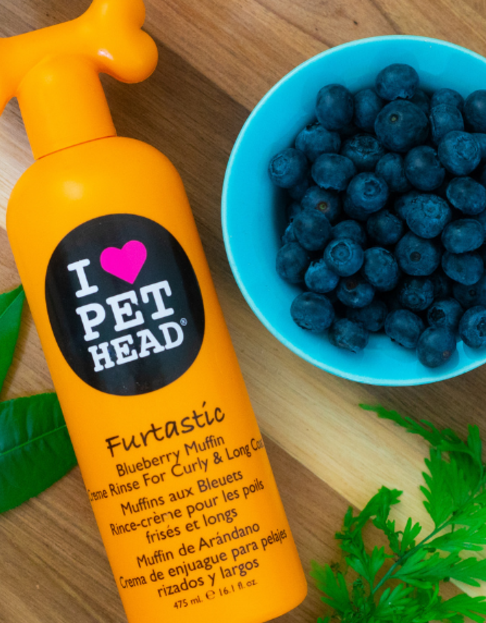 Company of Animals Pet Head Furtastic Blueberry Muffin Conditioner Rinse for Dogs, 475ml