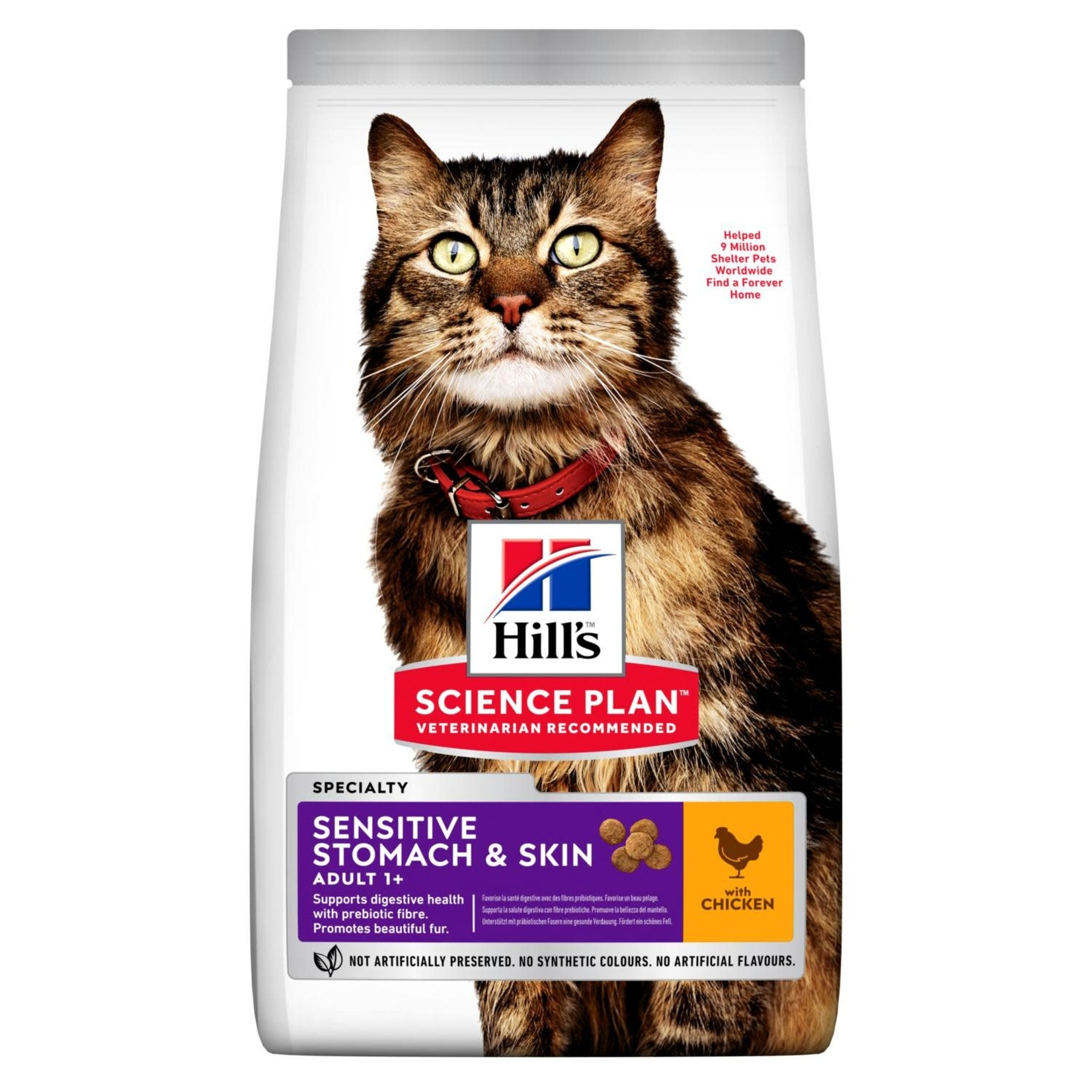Hill's Science Plan Adult 1+ Sensitive Stomach & Skin Cat Dry Food, Chicken