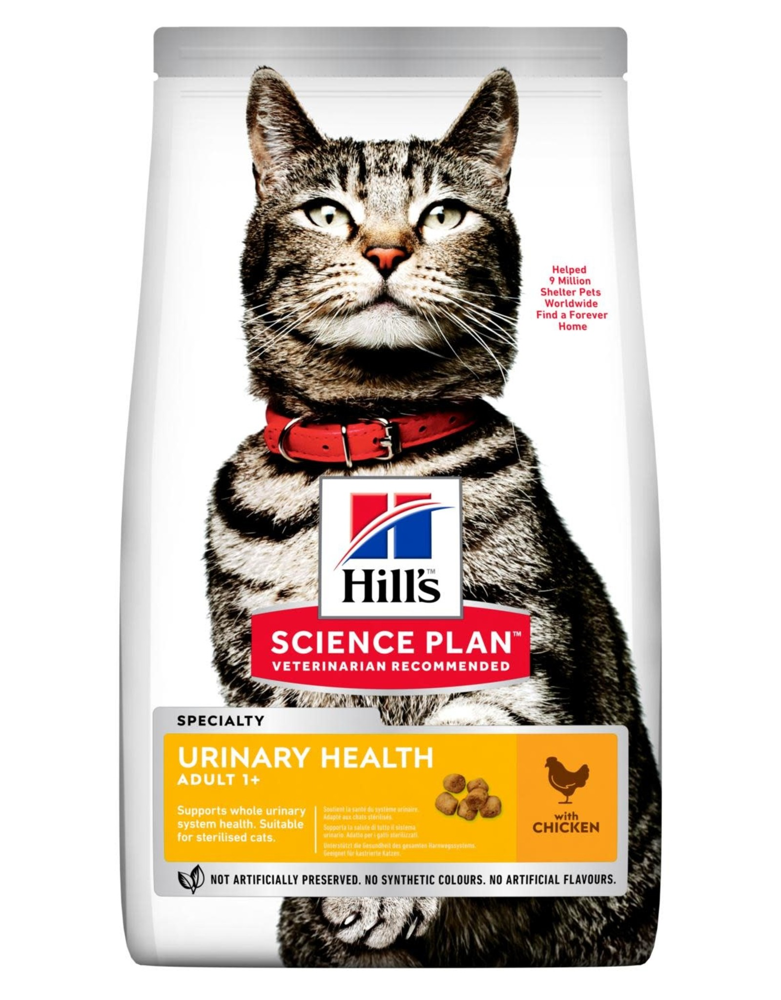Hill's Science Plan Adult 1+ Urinary Health Cat Dry Food Chicken, 1.5kg