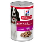 Hill's Science Plan Adult 1-6 Dog Wet Food Can, Beef, 370g