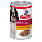 Hill's Science Plan Adult 1-6 Dog Wet Food Can, Chicken, 370g