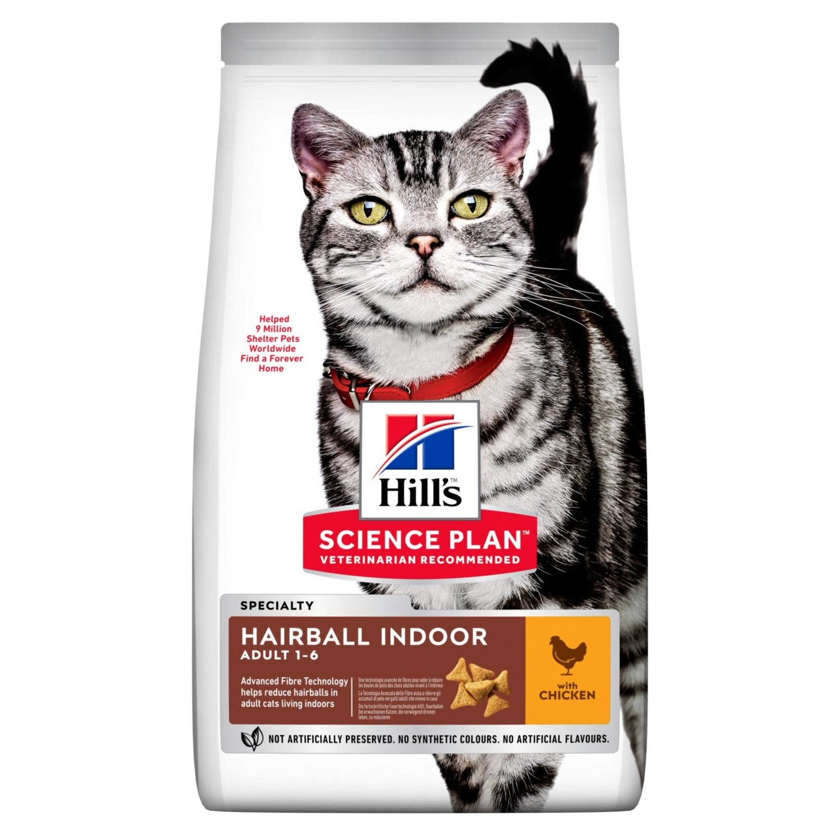 Hill's Science Plan Adult 1-6 Hairball Indoor Cat Dry Food, Chicken