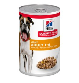 Hill's Science Plan Light Adult 1-6 Dog Wet Food Can, Chicken, 370g
