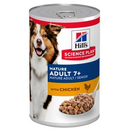 Hill's Science Plan Mature Adult 7+ Dog Wet Food Can, Chicken, 370g