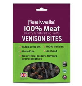 Feelwells 100% Meat Healthy & Natural Dog Treats Venison Bites, 100g