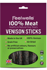 Feelwells 100% Meat Healthy & Natural Dog Treats Venison Sticks 100g