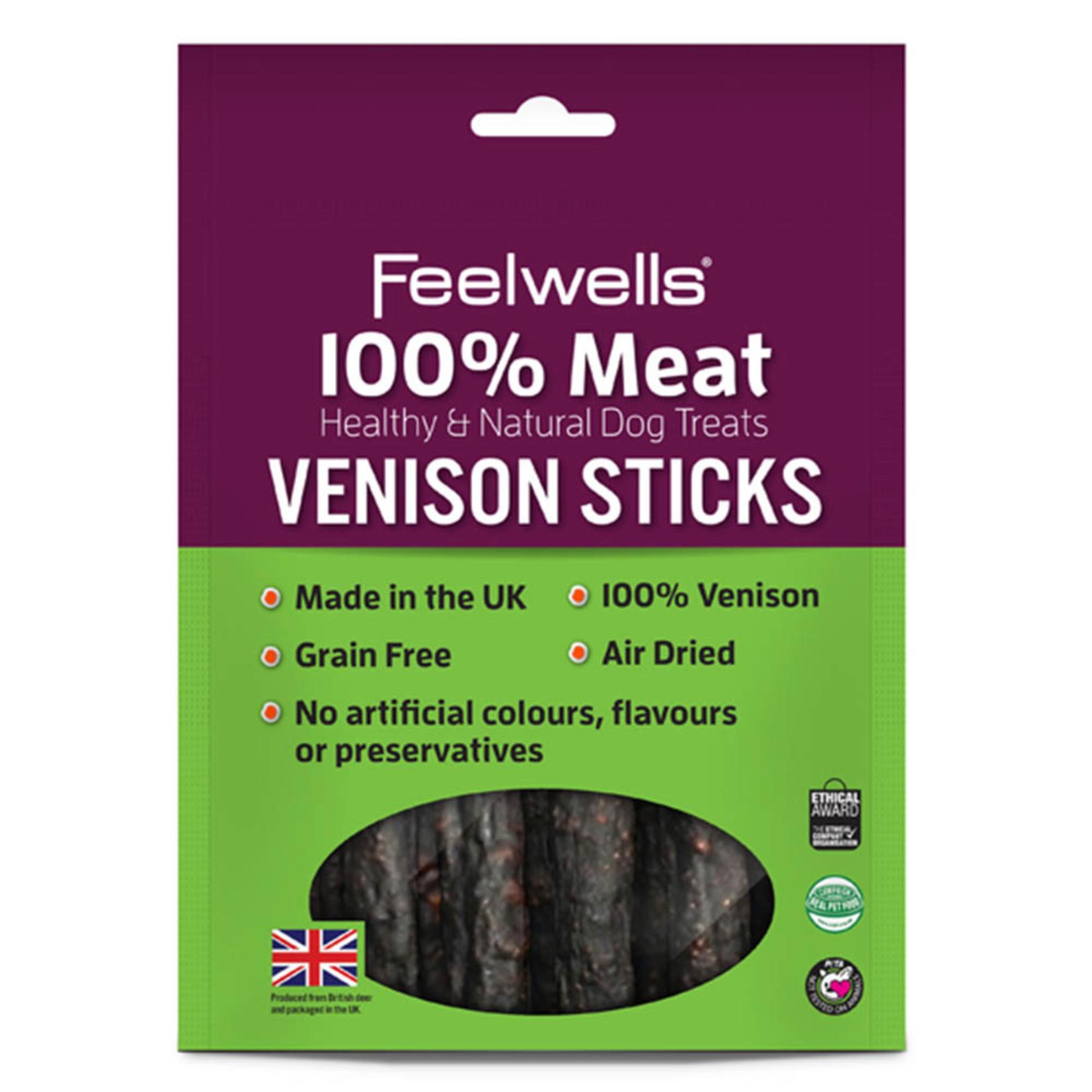 Feelwells 100% Meat Healthy & Natural Dog Treats Venison Sticks, 100g