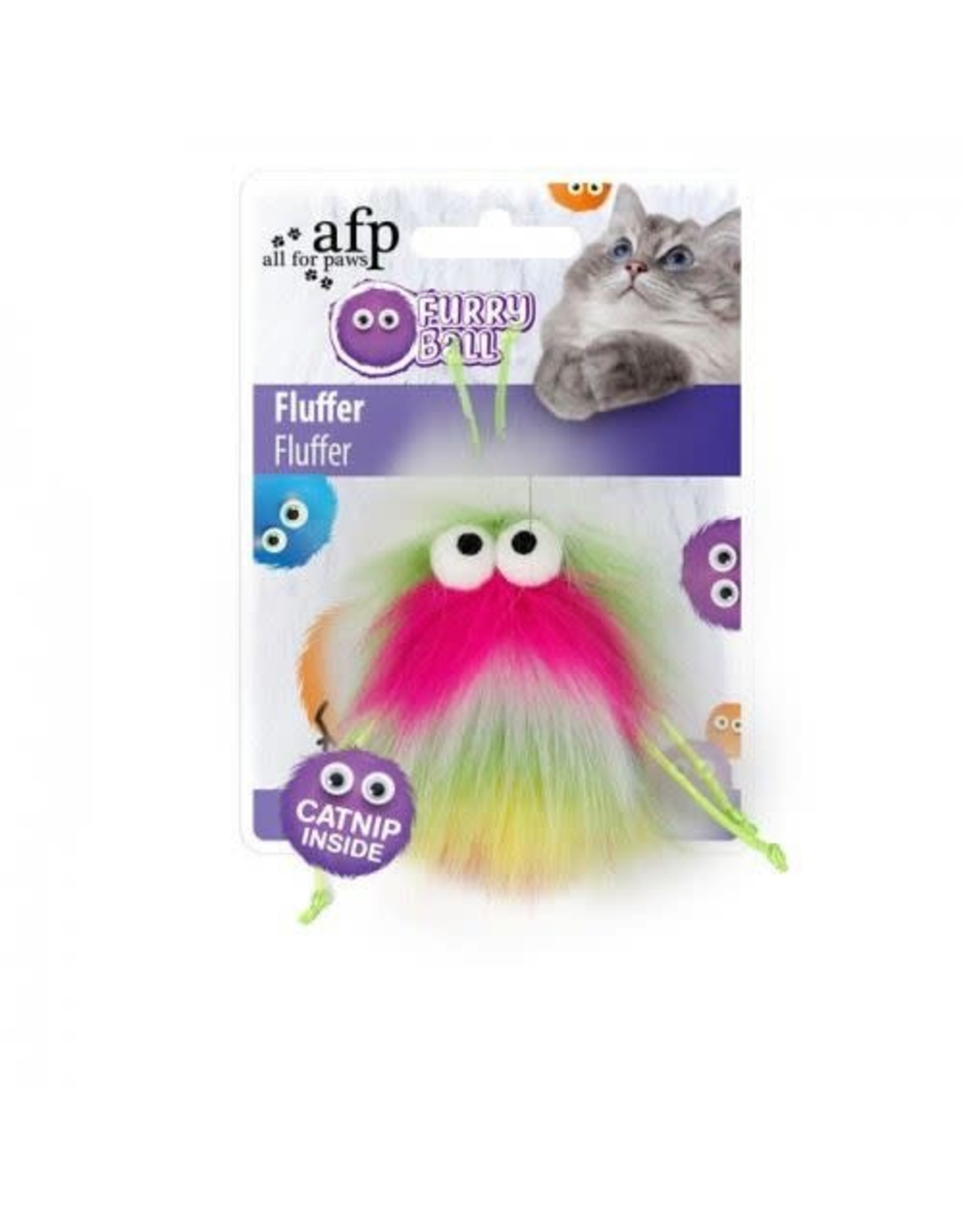 All For Paws Furry Ball Fluffer Cat Toy