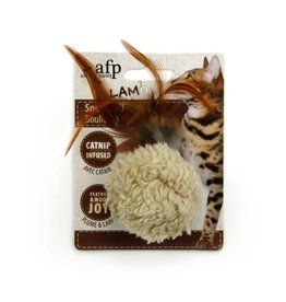 All For Paws Lamb Snow Ball Catnip Cat Toy, Mixed Colours