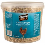 Extra Select Chicken D'Light Poultry Feed Blend, 5 litre bucket