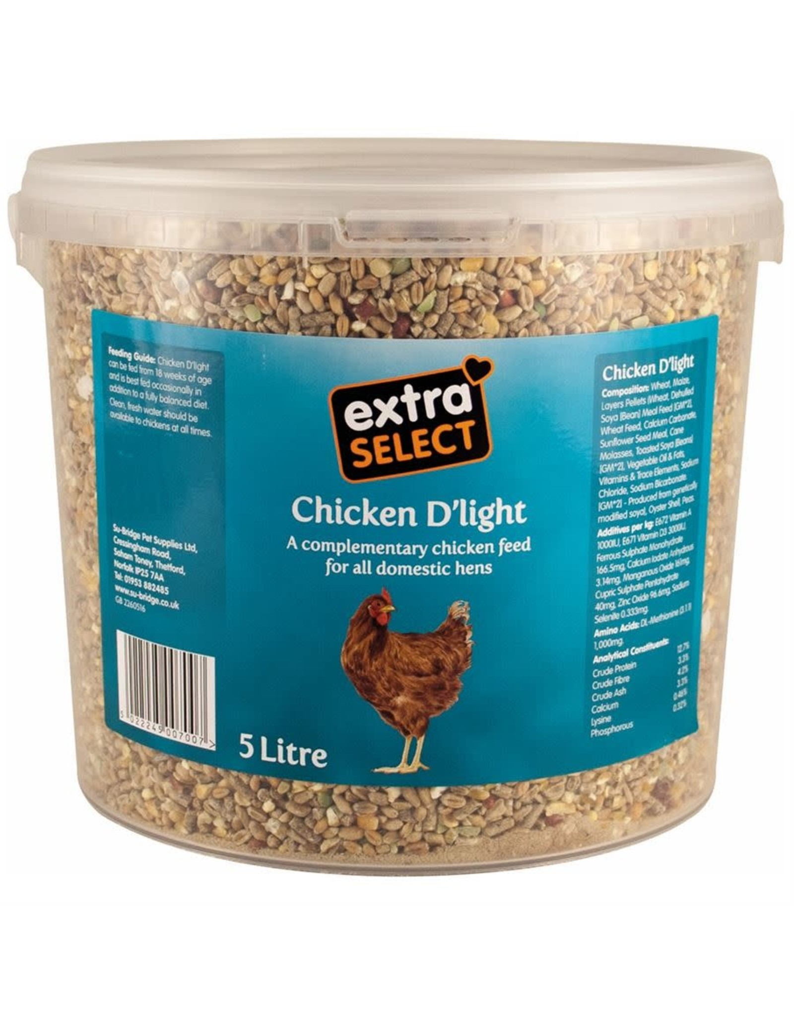Extra Select Chicken D'Light Poultry Blend, 5 litre bucket