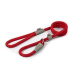 Ancol Viva Reflective Rope Slip Dog Lead, 120 x 1.2cm