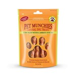 Pet Munchies Chicken Sticks with Carrot 100% Natural Dog Treats, 80g