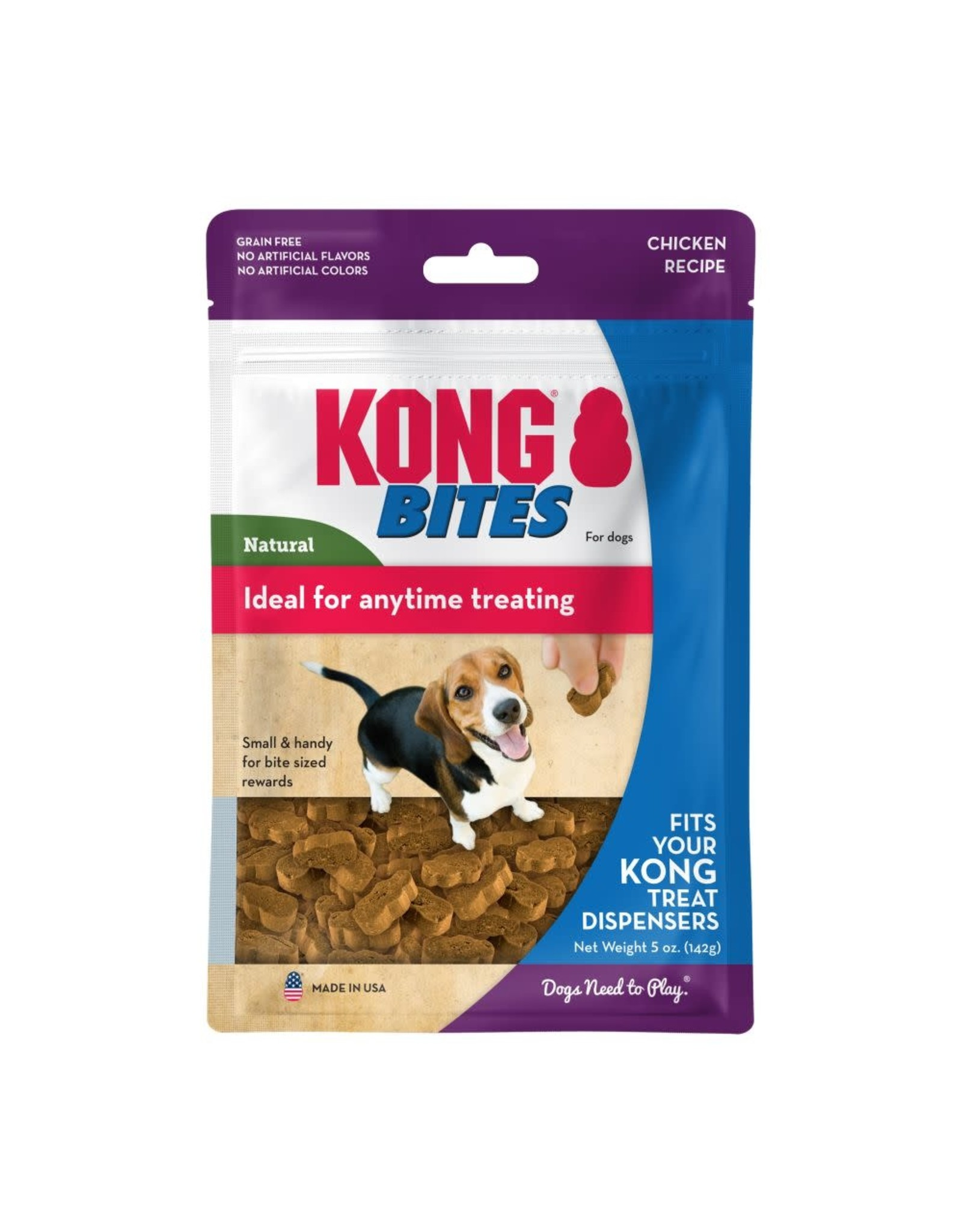 KONG Bites Chicken Dog Treats, 142g