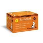Forthglade Just Chicken, Chicken with Liver & Turkey Grain Free 2 Months + Wet Dog Food, Multicase 12 x 395g