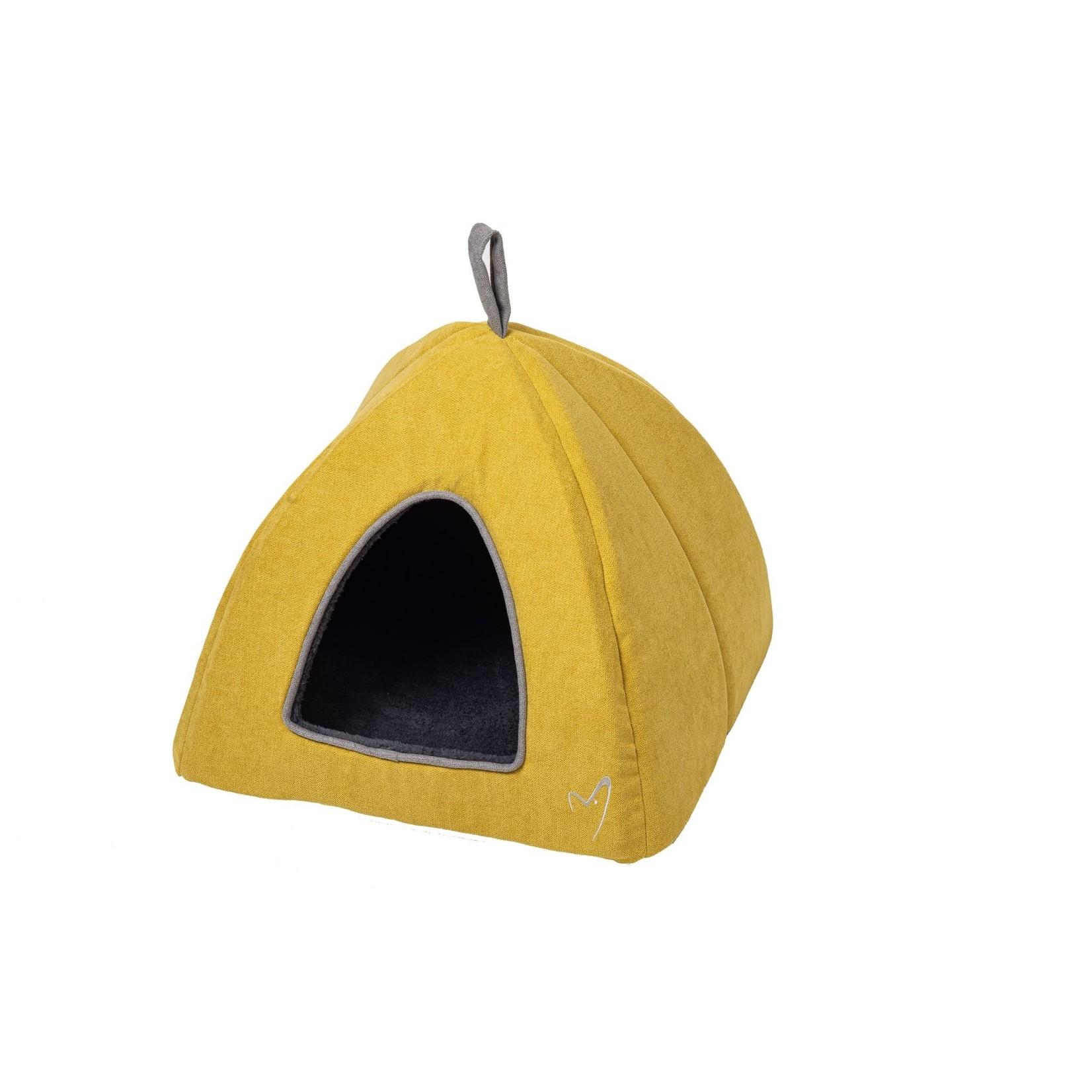 Gor Pets Camden Pyramid Cat Bed 40x40x40cm in Mustard***