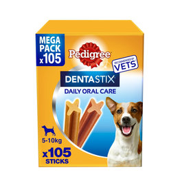 Pedigree Dentastix Daily Adult 1+ Dental Dog Chews, 105 Stick  Small Dog 5-10kg
