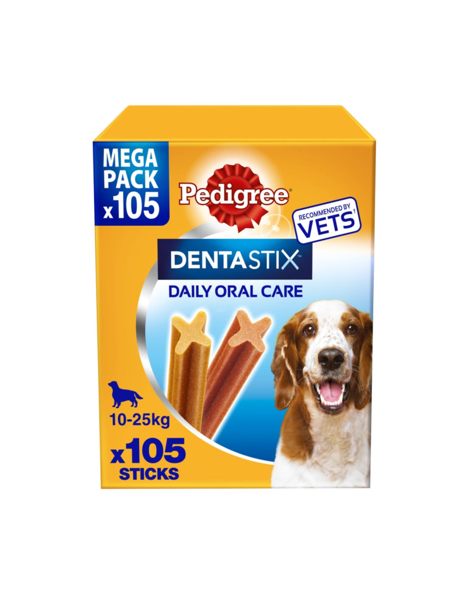 Pedigree Dentastix Daily Adult 1+ Dental Dog Chews, 105 Stick  Medium  Dog 10- 25kg