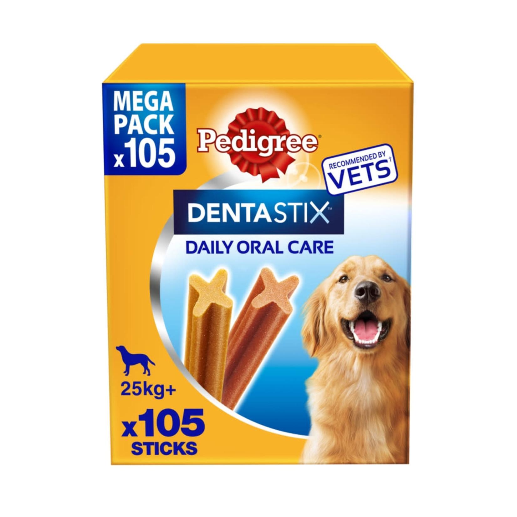 Pedigree Dentastix Daily Adult 1+ Dental Dog Chews, 105 Stick  Large  Dog 25+kg