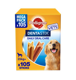 Pedigree Dentastix Daily Adult 1+ Dental Dog Chews, 105 Stick  Large  Dog 25+kg