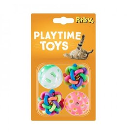 Jingle & Puzzle Balls Cat Toy, 4 pack
