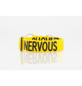 "Friendly Dog Collars ""Nervous"" Snap Dog Collar *CLEARANCE"