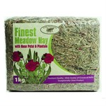 Pure Pastures Finest Meadow Hay with Rose Petal & Plantain 1kg