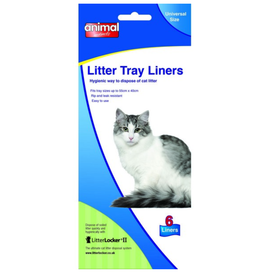 Animal Instincts Cat Litter Tray Liner Universal Size 55cm x 40cm, 6 pack