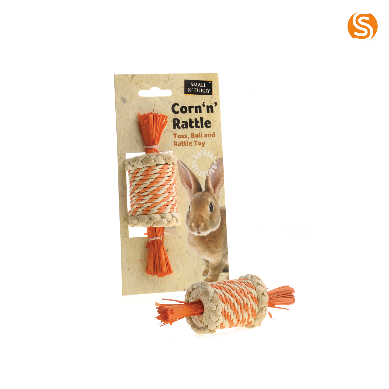 sharples Corn 'n' Rattle Roller Small Animal Toy