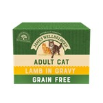 James Wellbeloved Grain Free Adult Cat Wet Food Pouch, Lamb, 85g, Box of 12