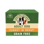 James Wellbeloved Grain Free Adult Dog Wet Food Pouch, Turkey, 100g, Box of 12