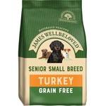 James Wellbeloved Grain Free Senior Small Breed Dog Dry Food, Turkey & Vegetable, 1.5kg