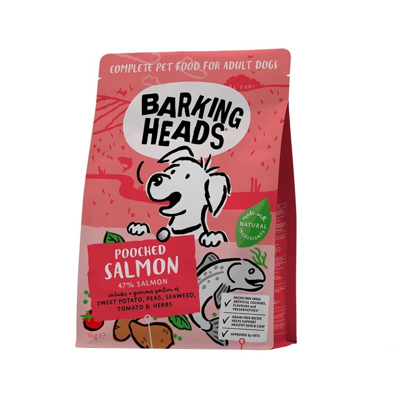 Barking Heads Pooched Salmon Adult Dog Dry Food, Salmon