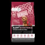 Burns Alert Adult & Senior Assistance Working Dog Food, Chicken, 2kg